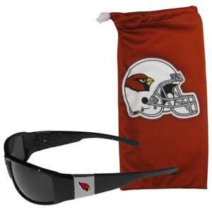 Arizona Cardinals Chrome Wrap Sunglasses with Bag [NEW] NFL Shades Sun Glass