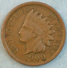 1900 Indian Head Cent Penny Liberty Very Nice Vintage Old Coin Fast S&H 34009