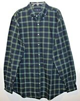 Polo Ralph Lauren Big and Tall Mens Blue Green Plaid Button-Front Shirt NWT 2XLT