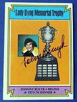 1974 TOPPS TROPHY JOHN BUCYK SIGNED HOCKEY CARD # 245 ~ JSA BASIC STICKER COA