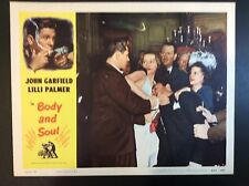 "11 x 14  ""BODY AND SOUL"" 1953 MOVIE LOBBY CARD MOVIE THEATER PROMO"