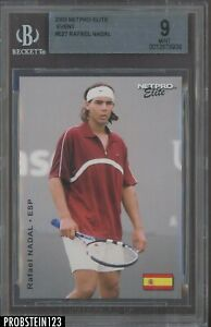 2003 Netpro Elite Tennis #E27 Rafael Nadal RC Rookie Event BGS 9 MINT