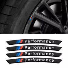 4x Alloy M Performance Wheels Rim Sticker Set for BMW Black