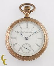 Elgin Grade 145 Gold Filled Open Face Pocket Watch 15 Jewel Size 18s 1898