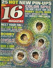 16 Magazine April 1969 Cowsills Bobby Sherman Sajid Mod Squad Dark Shadows
