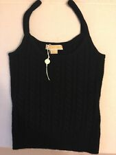 NEW MICHAEL KORS COLLECTION 100% cashmere sweater/ tank top, Sz S, Italian Yarn