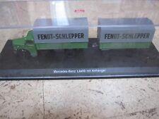 Schuco 1:43 Mercedes Benz L6600 mit Anhänger Fendt Schlepper