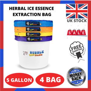 BUBBLEBAGDUDE Bubble Bags 5 Gallon 4 Bag Set Herbal Ice Essence Extraction Bag x