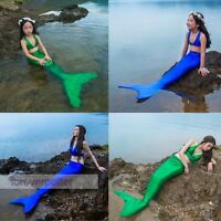 Women Kids Mermaid Tail/ Bikini Top Cospaly Swimmable Girls Tail without Monofin