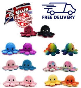 Cute Reversible Flip Octopus Plush Doll Gift Plush octopus Stuffed Toy!!