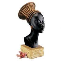 African Nubian Kandake Royal Ruler Bust Sculpture Elegant Queen Statue