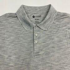 Haggar Clothing Polo Shirt Men's Size 2XL XXL Short Sleeve Gray Casual Golf