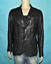 veste blazer DKNY en cuir de chevre noir taille M super etat