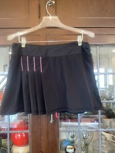 ATHLETA Any Sport Pleated Skort Skirt Tennis Running  | Black M