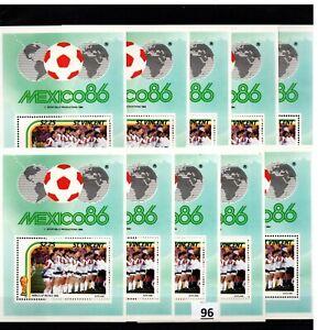 // 10X ST.VINCENT - MNH - SPORTS - SOCCER - MEXICO 1986 - WHOLESALE