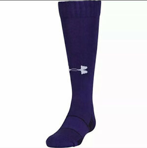 Under Armour Team Over The Calf Socks, 1-pair, Purple, Size: Youth Large 1-4