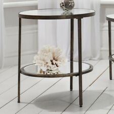 Frank Hudson Gallery Direct Hudson Glass and Metal Side Table