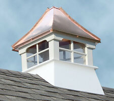 Accentua Rainier Vinyl Cupola with Copper Roof, 20 in. Square, 30 in. High