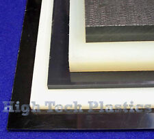 "1.25"" X 12"" X 48"" Black Color Nylon Plastic Sheet Slab Plate"