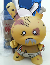 """DUNNY 3"""" 2011 SERIES HUCK GEE ZOMBIE BROWN EXCLUSIVE KIDROBOT TOY COLLECTIBLE"""