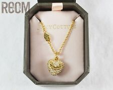 Juicy Couture Pave Heart Charm Wish Necklace gold with box