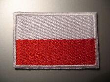 Polen Polnische Flagge Klein Zum Aufbügeln / Stoffaufnäher Abzeichen Flaga