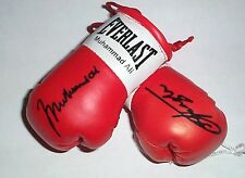 Muhammad Ali v Various Opponents Autographed Mini Boxing Gloves
