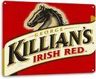 George Killians Irish Red Beer Logo Distressed Retro Wall Decor Metal Tin Sign