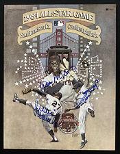 Willie Mays Signed Program 1984 ASG Baseball Autographs + McCovey Marichal JSA