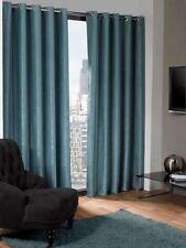 Rideaux et cantonnières bleus moderne en polyester pour la chambre