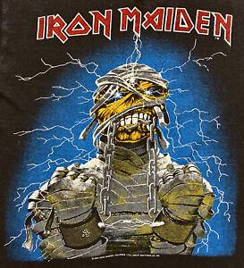 Vintage 80s 1984 IRON MAIDEN World Slavery Rock Concert Tour T SHIRT Mens S M