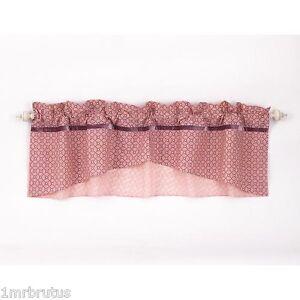 Cocalo Emilia Window Valance Girl's Nursery Decor Floral Pink Purple Shabby Chic