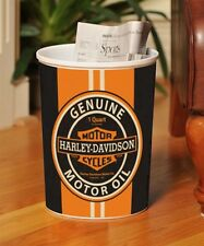 NEW IN BOX  Harley-Davidson Motorcycle  Plastic Trash Can Waste Basket