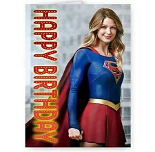 Supergirl, Melissa Benoist A5 Happy Birthday Card With Envelope
