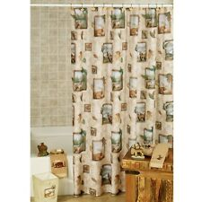 NORTHWOODS by Saturday Knight  FABRIC Shower Curtain 70 by 72  NEW