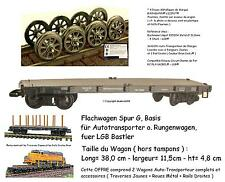 TRAIN LOT 2 Wagons Transport L= 38 cm Roue Métal Rails Accessoire PLAYMOBIL® ☆1☆