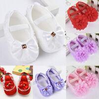 Newborn - 18M Infants Baby Girl Crib Shoes Moccasin Prewalker Soft Sole Shoes