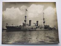 Foto Kaiserliche Marine S.M.S. Prinz Heinrich. Marine Kriegsschiffe