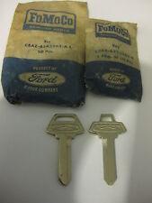 65 66 Ford Galaxie 500 LTD XL Original Key Blank Set Ignition Door Trunk NOS
