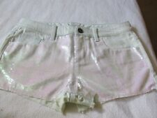 Victoria's Secret Boyfriend Jeans Shorts Sequin Covered Front sz 6 NWT $44.50.