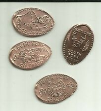 4 Copper elongated pennies (cents) Rainbow Express Convenience Store South Fork