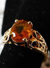 Filigree Citrine Ring