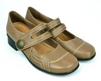 ARKOO Womens Light Brown Mary Jane Comfort Flat Shoes 'Briony' - Size 39 AUS 8.5