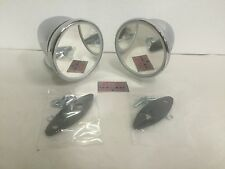 Pair Bullet Chrome Fender Door Sports Mirror Japanese British Compact Custom GT