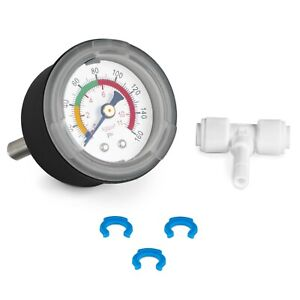 Water Pressure Gauge 160 PSI Parts for Water Filters / Reverse Osmosis RO System