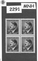 MNH Stamp block 10 hal 1942 Third Reich / Adolph Hitler / WWII German Occupation