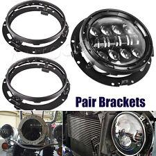 2pcs Mounting Bracket for 7inch LED Headlight Round Ring Jeep Wrangler Harley