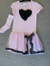2x A DEE  DRESSES  one With Socks SIZE 140