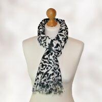 ladies black and white scarf ladies art decor print scarf ladies classy scarf