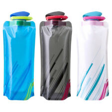 700ML Outdoor Travel Camping Folding Foldable Collapsible Drink Water Bottle